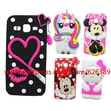 For Samsung Galaxy J7 Case 3D Cartoon Minnie Lips Unicorn Hello Kitty Stitch Dog Soft Phone Cases For Samsung J7 J700 SM-J700F(China)