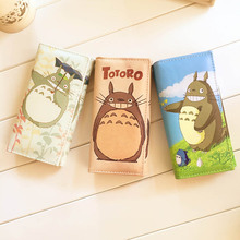 1pc Cute Totoro Ladies Long Wallets for Women High Quality Leather Clutch Hasp Purses Female Zip Pocket Card Holder Dollar Price