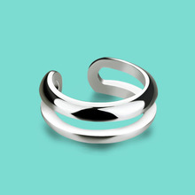 925 sterling silver ring for women fashion simple silver ring Smooth opening design rings Daily joker silver ornament A woman