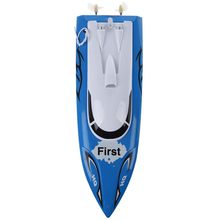 ABWE Best Sale 10 inch Mini RC Boat Radio Remote Control RTR Electric Dual Motor Toy Blue(China)