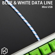 Whitefox Cable wire Mechanical Keyboard GH60 USB cable mini micro USB port for poker 2 GH60 keyboard kit DIY(China)