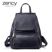 2017 New Designer High Quality Genuine Leather Fashion Women Backpack Girl School Book Bag Laptop Female Mochila Feminina
