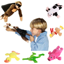 1pc Soft Cute Children Boy Girl Child Kids plush Slingshot Screaming Sound Mixed for Choice Plush Flying Monkey Toy PA874363(China)