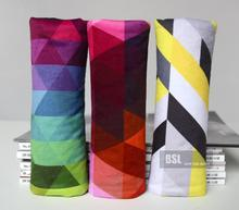 100% Cotton Car Seat Belt Cover for Kids Lady Car Safety Belt Padding Auto Upholstery Decoration Colors Mixed Flag Pattern 1pc(China)