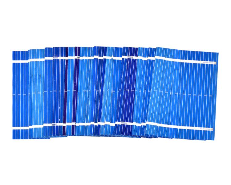 Aoshike 100pcs Mini Solar Panel 52 * 22mm Polycrystalline Silicon Solar panels 0.19w 0.5v/DIY Cell Phone Charging Battery 8