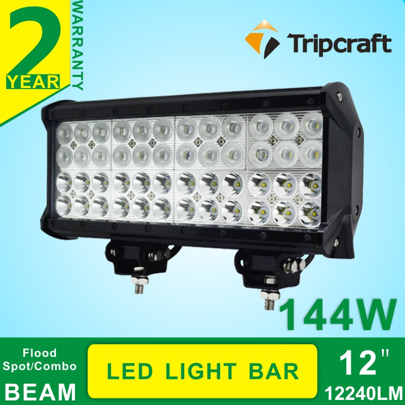 12INCH 4 ROWS 144W CREEss LED LIGHT BAR COMBO FOR OFFROAD TRACTOR TRUCK BOAT 4x4 LED Work Driving Light Bar 12V 24V Fog light<br><br>Aliexpress