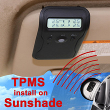 Sunvisor Sunshade Wireless TPMS with Internal Sensor Support High Low Pressure Temperature Fast Leakage Alarm Max 5 tires(opt)(China)