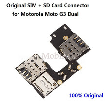 100% Original for Moto G3 G 3rd Gen Dual SIM SD Card Reader Holder Connector Slot Flex Cable Replacement Repair Parts
