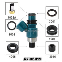 40pieces/set fuel injector repair kit filter oring seal kit pintle caps  for subaru  for 23209-50040 (AY-RK019)