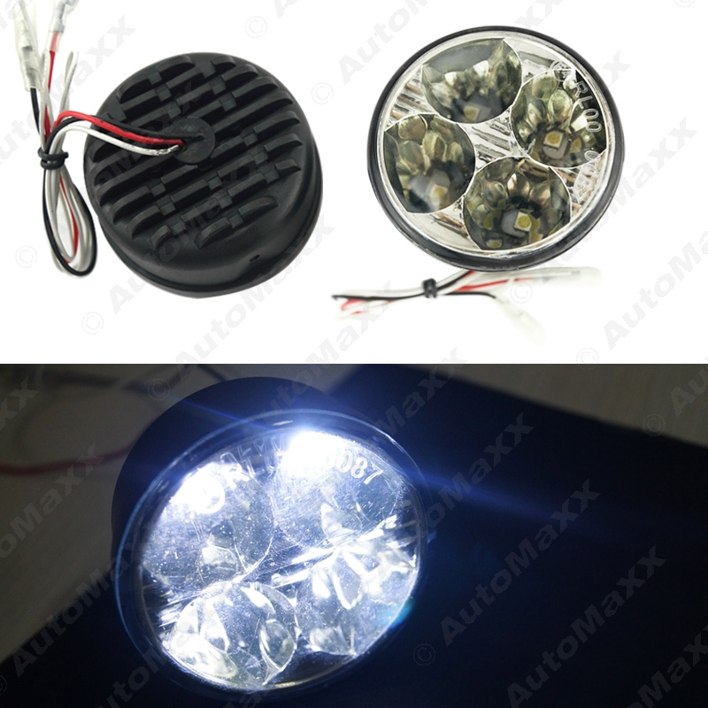 New Car Round Daytime Running Light 5050 4LED With Automatic Switch DRL #J-2899<br><br>Aliexpress