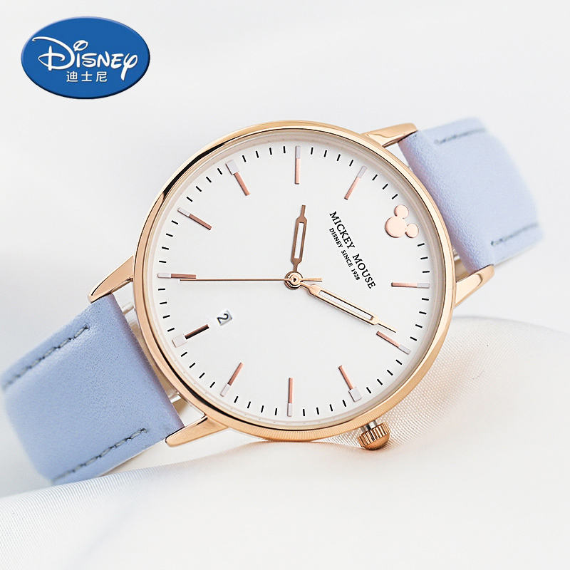 Disney Simple Women-watches 2017 brand luxury Casual Simple Watch Rose Gold Case 30M Waterproof Japan Movt Montre Femme MK-11186<br>