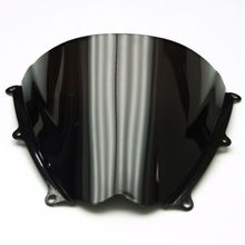 Smoke & Clear Motorcycle Windshield WindScreen For GSXR1000 K7 2007-2008  Double Bubble ABS
