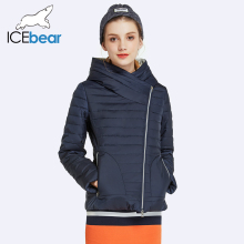 ICEbear 2017 Spring Jacket Women Coat With Hood Womens Clothing Short Solid Cotton Padded High Quality Parka 17G239D