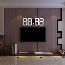 Hot Sale Modern Design 3D Clock Digital Led Large Wall Clock Big Creative Vintage Wall Watch Home Decoration Alarm Temperature