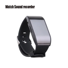 Professional Watch Digital Voice Recorder Wearable Wristband 8GB Hidden Voice Recorder MP3 Sound Dictaphones USB Audio Recorder