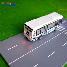 5pcs/lot Model Bus with 12V LED lighting Scale Bus Model Airport Bus Fire Rescue Bus Model Toy Kits for sale(China)