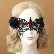 Black Women Sexy Lace Eye Venetian Mask Masks For Masquerade Rose  Costumes Carnival Gags & Practical Jokes TH0016