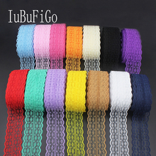 10 yards 45MM Width white lace ribbon DIY decorative lace trim fabric wedding birthday Christmas decorations 14 color 170103