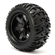 4PCS 12mm Racing Wheel Rim & Tires Redcat HSP 1:10 Monster truck RC On-Road Car Parts 12mm Hub 88005(China)