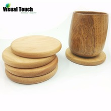 Visual Touch Wooden Heat Insulated Mat Cup Mug Coasters Table Bowl Pad Shop Bar Tea Coffee Cup Placemat Holder Gift
