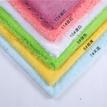 sold by meter 15mm polyester long hair plush fabric garment and hometextile faux fur fabric(China)