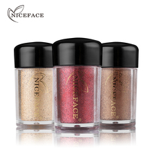 Buy NICEFACE Pro Women Makeup Super Sparkles Glitter Eyeshadow Shimmer Pigment Loose Powder Nude Eye Shadow Palette Beauty Cosmetics for $1.58 in AliExpress store