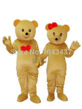 2014 Christmas halloween Teddy Bear Adult Mascot Costume Fancy Outfit Cartoon Character Party Dress Free Shipping