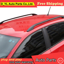 D_YL car styling for Hyundai i30 car roof rack For Verna aluminum alloy luggage rack punch Free(China)