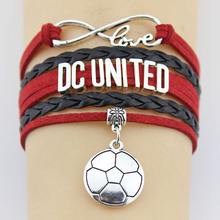 Infinity Love Major League Soccer D.C. United Soccer Bracelet  Sports Team  Charm Bracelet Custom Any Themes Drop Shipping