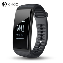 KINCO 0.96 Inch Dynamic Heart Rate Air Pressure Sport Tracking Temperature Sport Sleep Monitor Smart Wristband for Android IOS