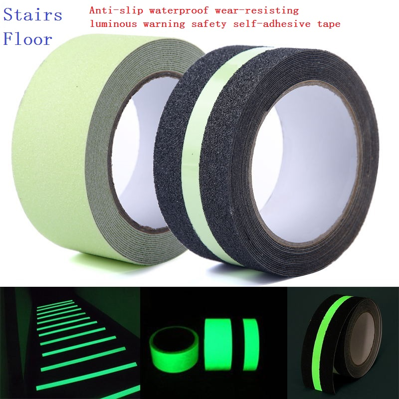 5cm*5meters Safety Home Decoration Storage Light Luminescent Film Glowing Warning Stage Luminous Self-adhesive Non-slip Tape<br><br>Aliexpress