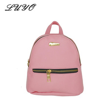 2017 Fashion Mini Kawaii Womens Leather Small Cute Pink Backpack Sac A Dos Teenage Girls School Bags For Teenagers Sale Women