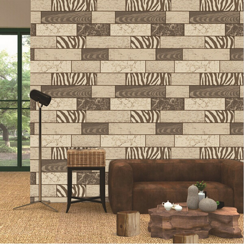 beibehang  high Quality Vintage Style 3d Waterproof Brick Stone Stripe Wallpaper Living Room Bedding Room Tv Backgaprs Wallpaper<br>