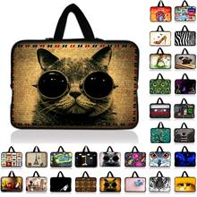 7 10 12 13 13.3 14 15 15.4 17 17.3 inch Cat laptop bag netbook sleeve case with handle handbag computer notebook cover pouch