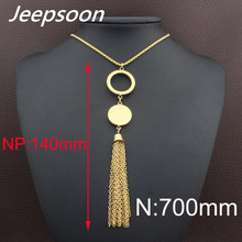 Buy Jeepsoon Fashion Stainless Steel Jewelry Woman 700mm Long Sweater Chain Necklace High Newest NEIFBEBG for $4.33 in AliExpress store