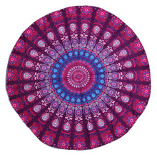 Enipate New Round Mandala Boho Decor Indian Tapestry Wall Hanging Bohemian Beach Towel Chiffon Thin Blanket Yoga Mat Shawl