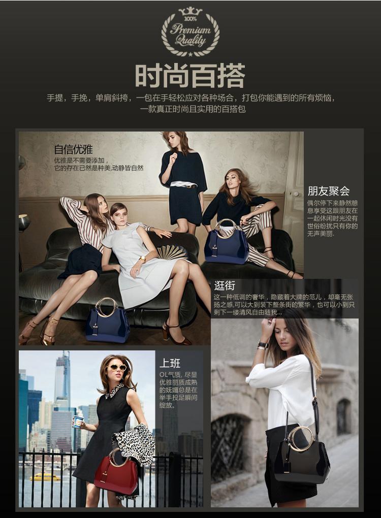 New High Quality Patent Leather Women bag Ladies Cross Body messenger Shoulder Bags Handbags Women Famous Brands bolsa feminina (6)