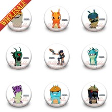 Wholesale 90pcs Slugterra 30mm Tin Buttons Pins Badges Brooches Round Badges Travel accessories fashion Kid gift(China)