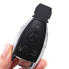 2pcs/lot 3 Buttons 315MHZ NEC BGA Keyless Entry Smart Remote Key Fob Case for Mercedes-Benz MB for after 2000 with Logo