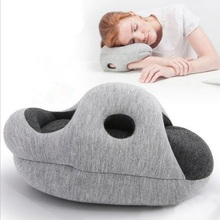 Office Nap Pillow EDC Flight Travel Pillow Desk Arm Head Rest Pillow Sleeping Cushion Foam Particles Breathable Cotton Cushion(China)