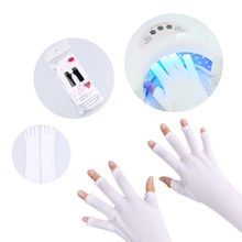 UV Protection Nail Art UV Gel Anti UV Glove for UV Light Lamp Radiation Protection Manicure 1pair Nail Art Dryer Tools(China)