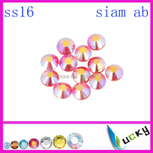 1440pcs! Chinese market highest quality hotfix rhinestone DMC Copy swarov 2038 ss16/4mm siam ab Colour(China)