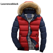 Winter Men Parka New Brand Padded Hooded Camperas Parka Solid All-match Cotton Coat Male Casaco Design Quilted Jacket 17