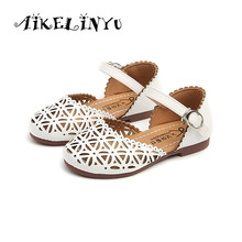Buy 2018 Summer Girl Baotou Sandals Girl Hollowed Princess Shoes Kids Sandals Children Shoes Baby Girl Fashion Flat Shoes White for $6.49 in AliExpress store