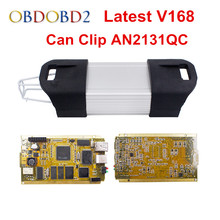 Full Chip For Renault Can Clip V169 OBD2 Diagnostic Tool With 15 Languages Can Clip For Renault Full Chip PCB AN2131QC
