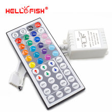 Hello Fish  LED controller 44 key IR Remote Control Applicable to 3528 or 5050RGB LED strip