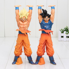 24cm Dragon Ball Z Figures Toys Super Saiyan Son Goku Genki dama Spirit Bomb Dragonball DBZ Model Toy(China)