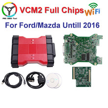 VCMII For Ford VCM 2 With WIFI Adapter Full Chips VCM2 For Mazda Diagnostic Tool For Ford VCM II IDS V101 Free Ship(China)
