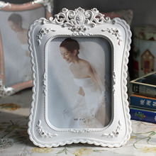 6/7/8/10 Inch Resin Photo Frame White Set with Diamond Decorative Picture Frame European Wedding Picture Photo Frames A