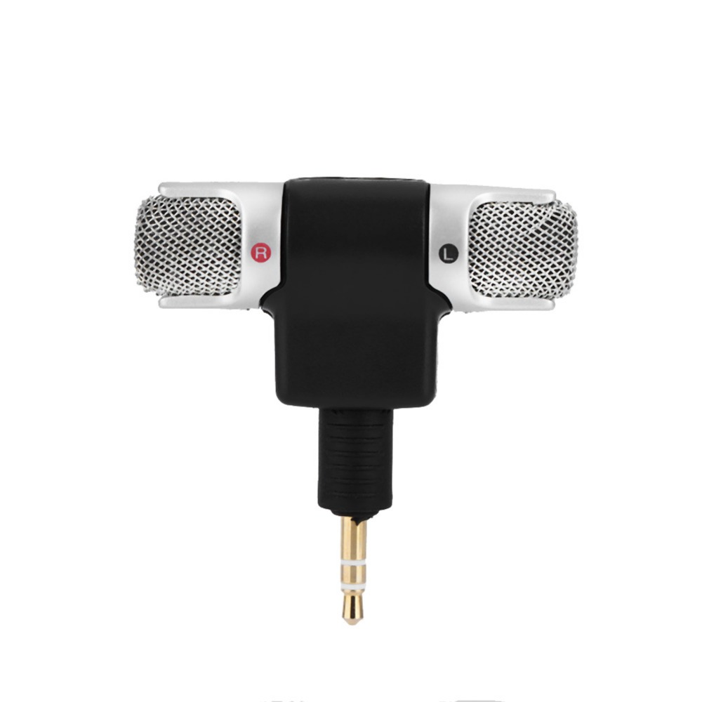 Mini Stereo Microphone Mic 3.5mm Gold-plating Plug Jack for PC Laptop MD Camera (2)